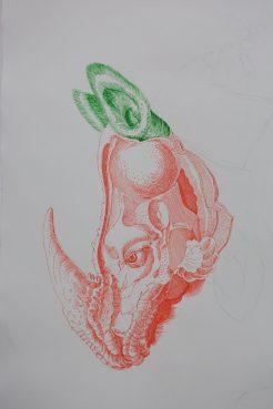 Tuschezeichnung (104 x 85 cm)