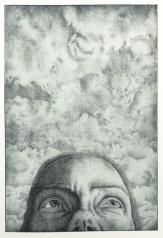 schwarz |Strichätzung | Büttenpapier | Motiv 30 x 20 cm | Blatt 40 x 30 cm | Edition: 40 +5