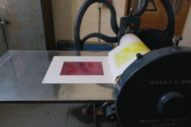 Gelb gedruckt