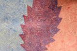 Deteail: Strichätzung, zweifarbiger Testdruck mit 2 Kupferplatten